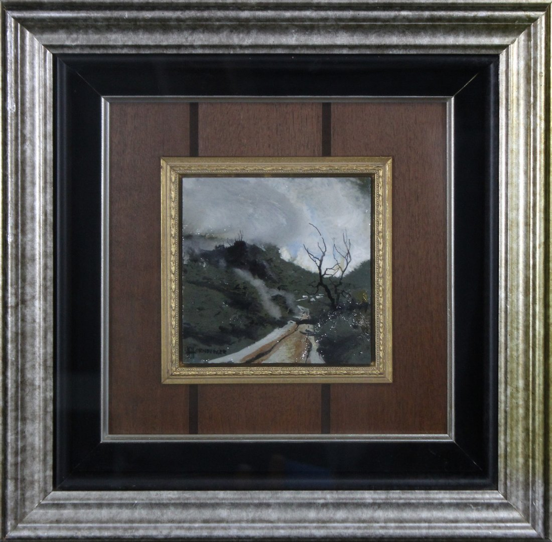 Don Hornberger 1921-2006 Painting Road Hilly Landscape