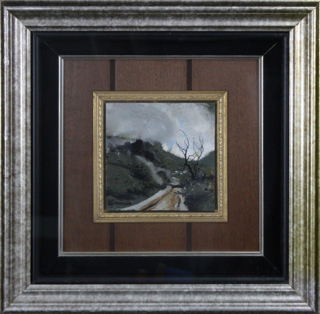 Don Hornberger 1921-2006 Painting Road Hilly Landscape