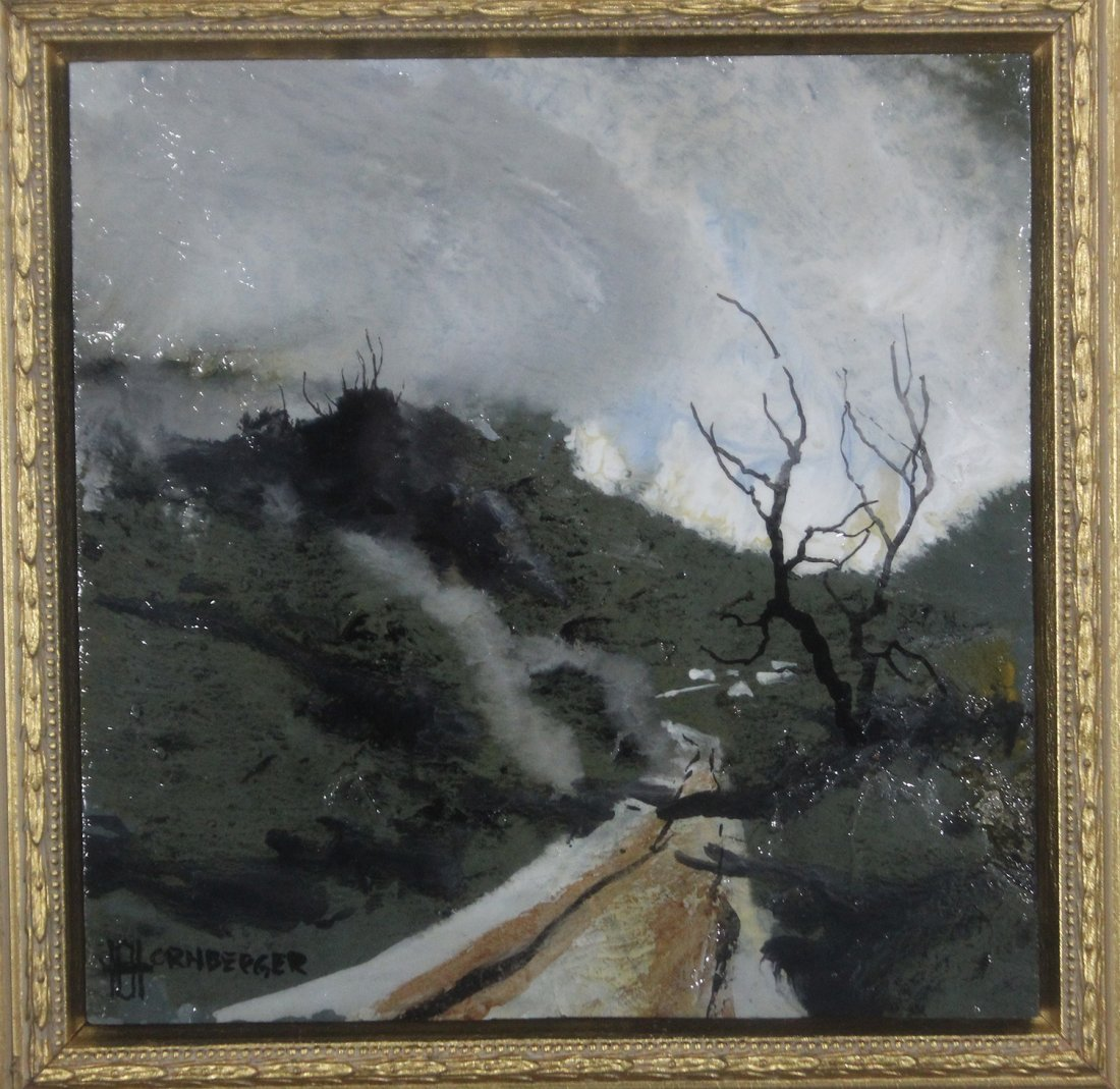 Don Hornberger 1921-2006 Painting Road Hilly Landscape - 2