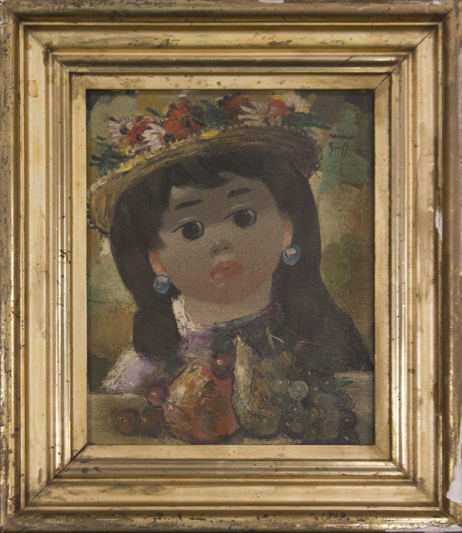 NINO GIUFFRIDA Italy, Oil/c, PORTRAIT YOUNG GIRL.