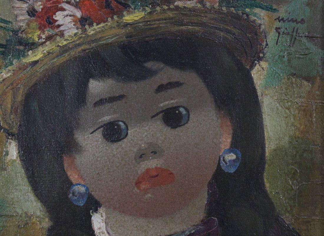 NINO GIUFFRIDA Italy, Oil/c, PORTRAIT YOUNG GIRL. - 3