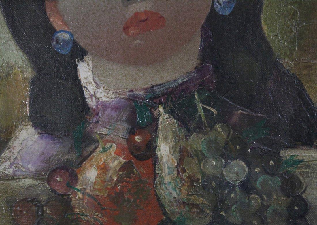 NINO GIUFFRIDA Italy, Oil/c, PORTRAIT YOUNG GIRL. - 4