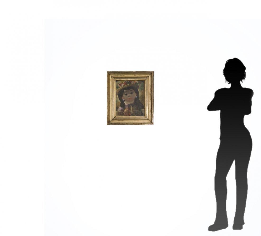NINO GIUFFRIDA Italy, Oil/c, PORTRAIT YOUNG GIRL. - 9