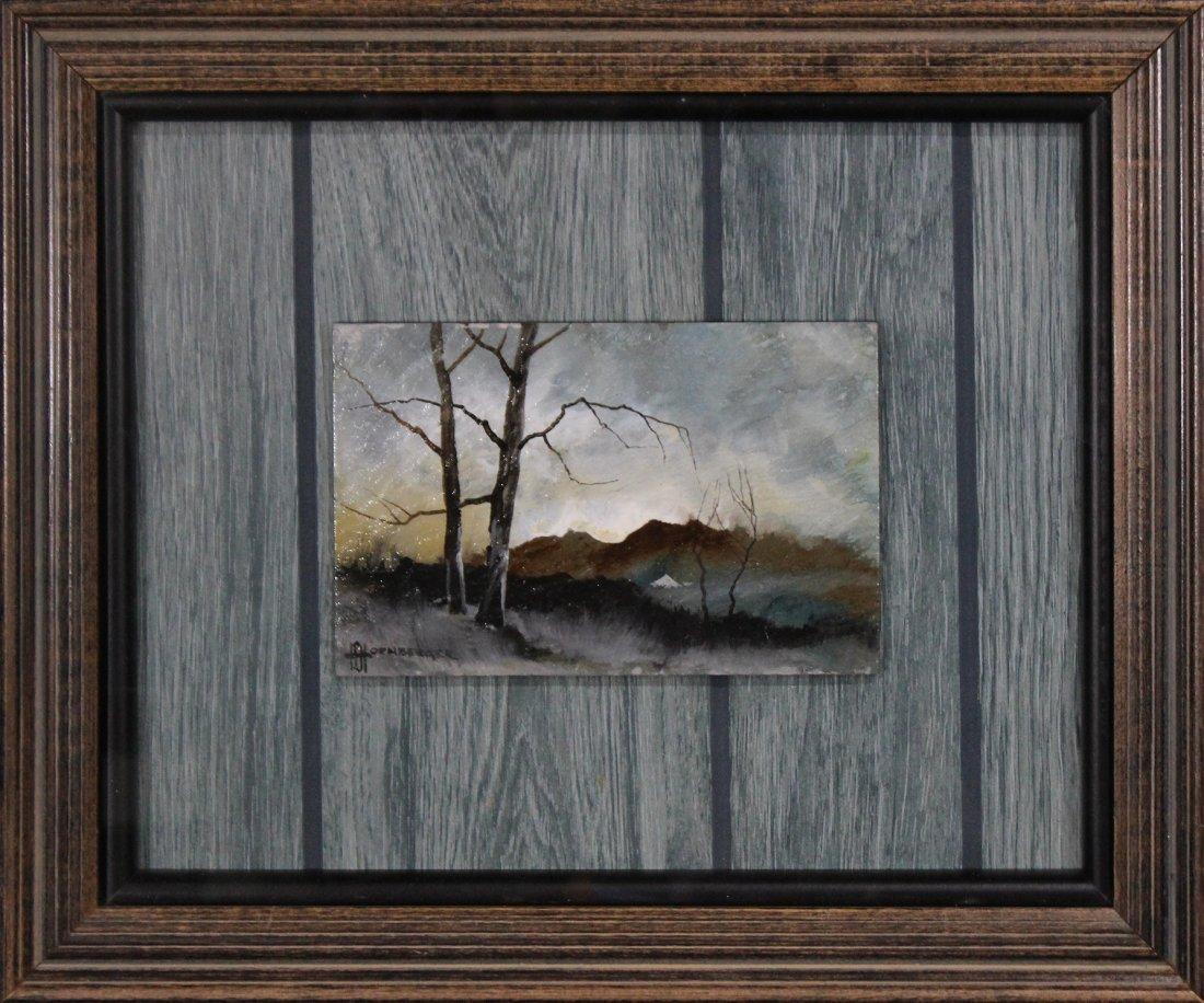 Don Hornberger 1921-2006 Oil Painting Stormy Landscape.