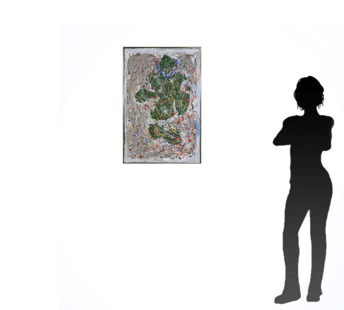 MID CENTURY MODERN DRIP ART ABSTRACT POLLACK STYLE - 4