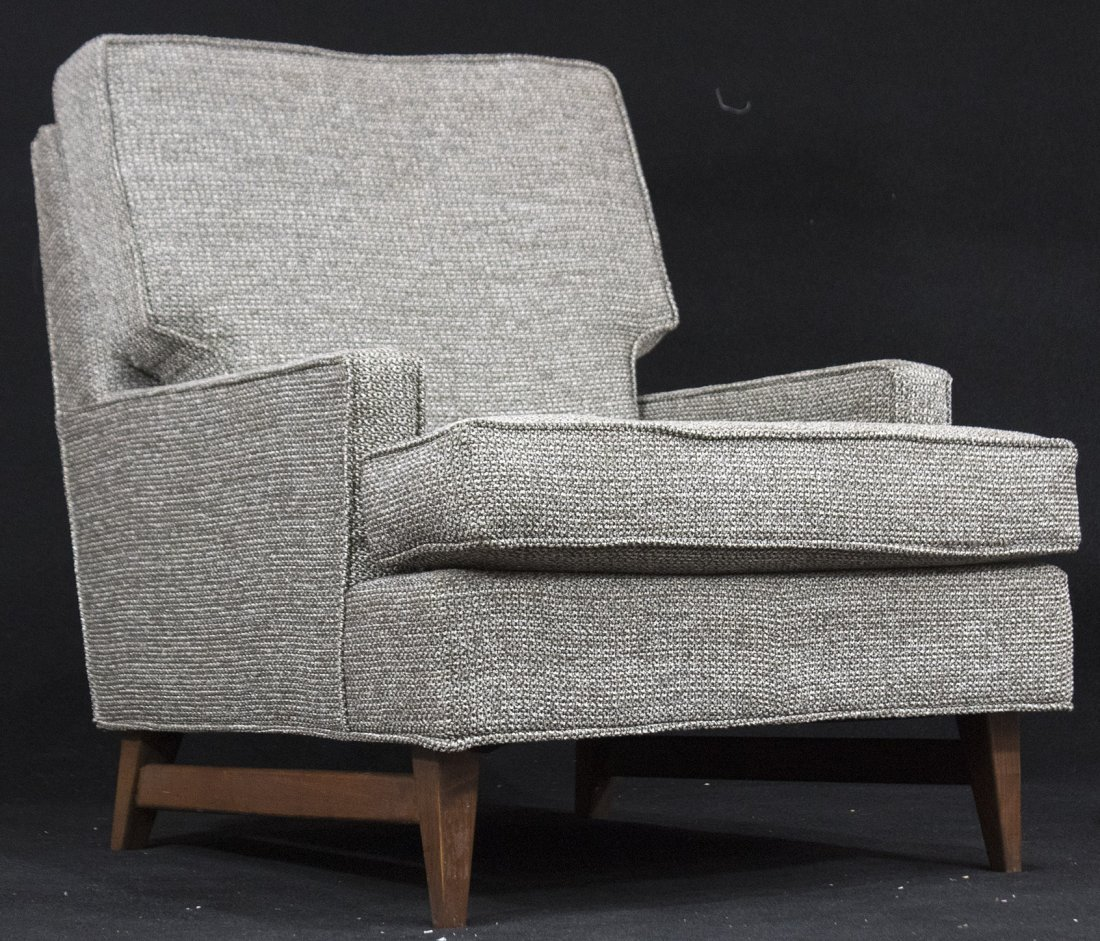 MID CENTURY OCCASIONAL TWEED CHAIR Pearsall Style CLEAN
