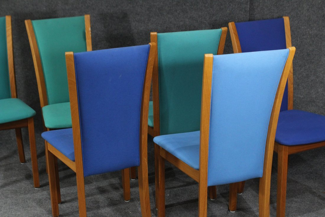 SKOVBY DENMARK Set 6 Teak Dining Chairs Tall Backs - 5