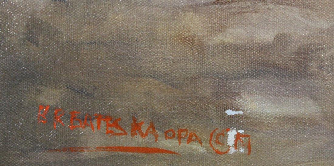 Original AVIATION ILLUSTRATION OIL Signed B R BATESKA - 4