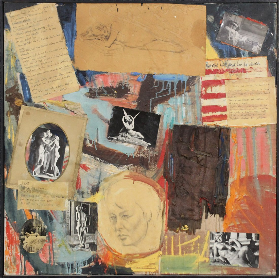 "MOREL ""MO"" PAGANO New Jersey Artist MID CENTURY COLLAGE"