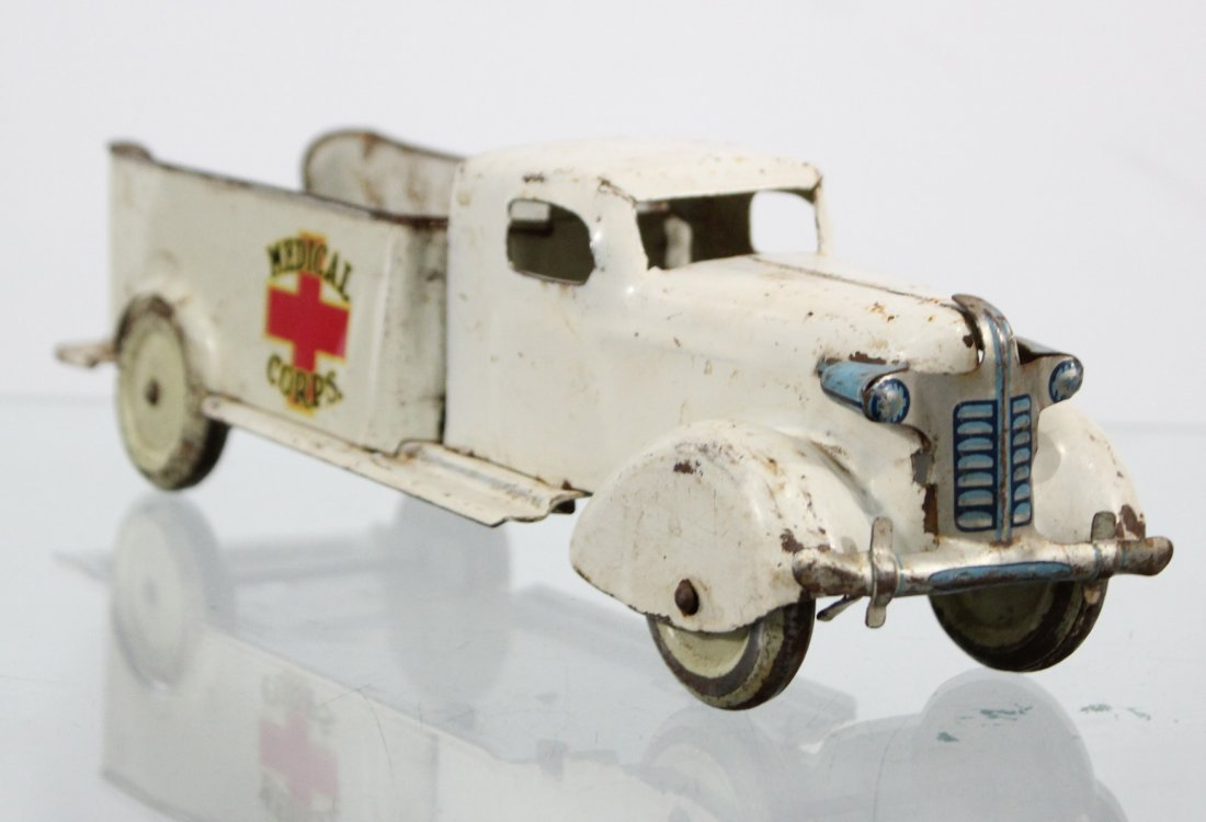 Antique MEDICAL CORPS PRESSED STEEL TRUCK