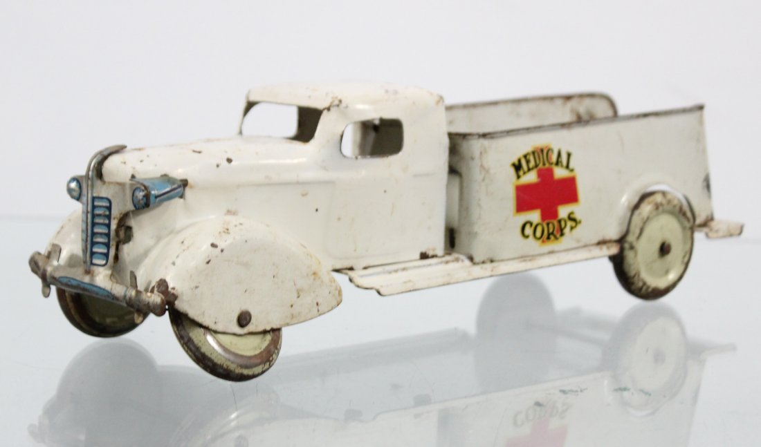 Antique MEDICAL CORPS PRESSED STEEL TRUCK - 3