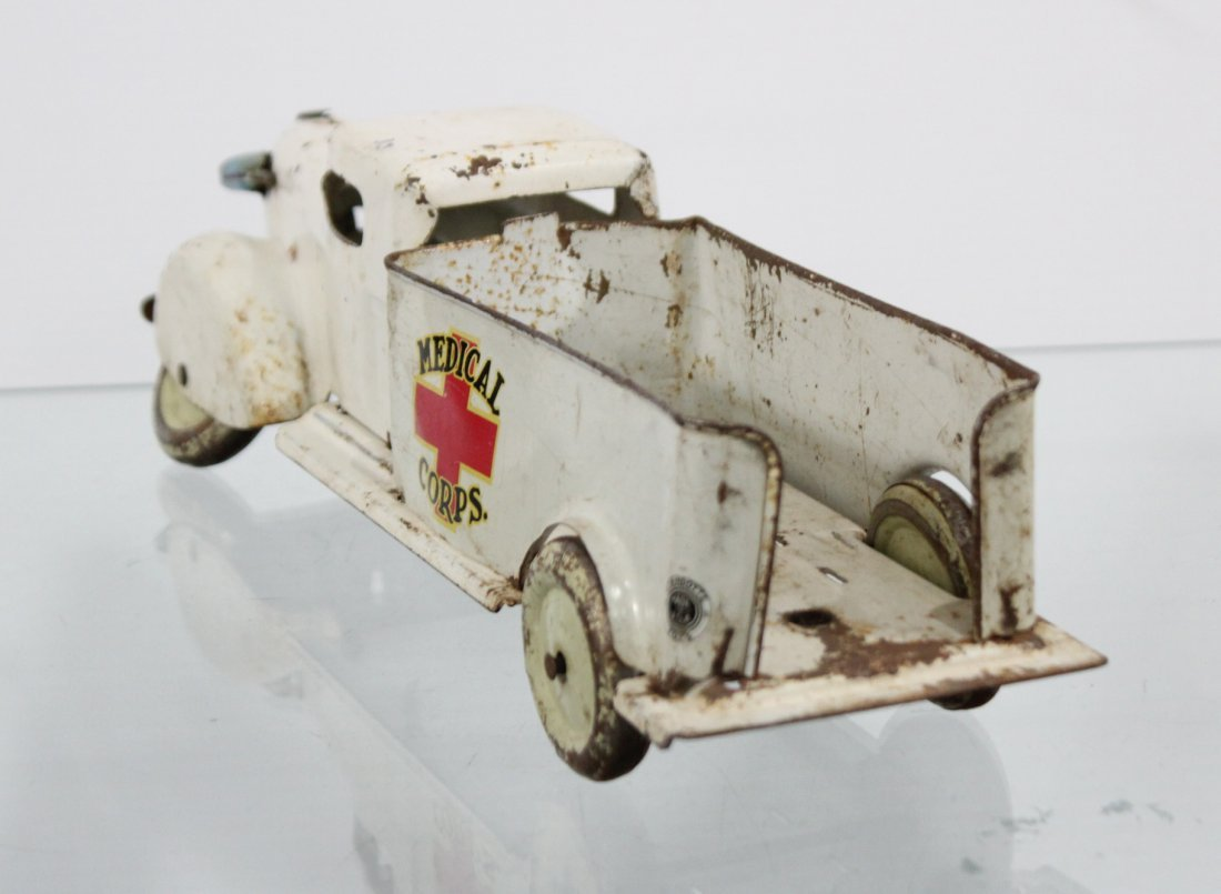 Antique MEDICAL CORPS PRESSED STEEL TRUCK - 5