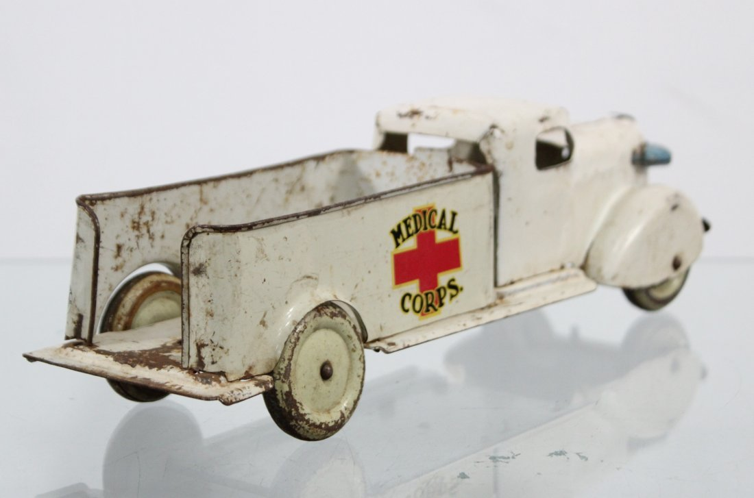 Antique MEDICAL CORPS PRESSED STEEL TRUCK - 6