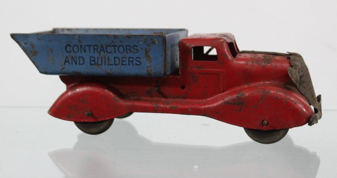 Antique PRESSED STEEL CONTRACTORS AND BUILDERS TRUCK
