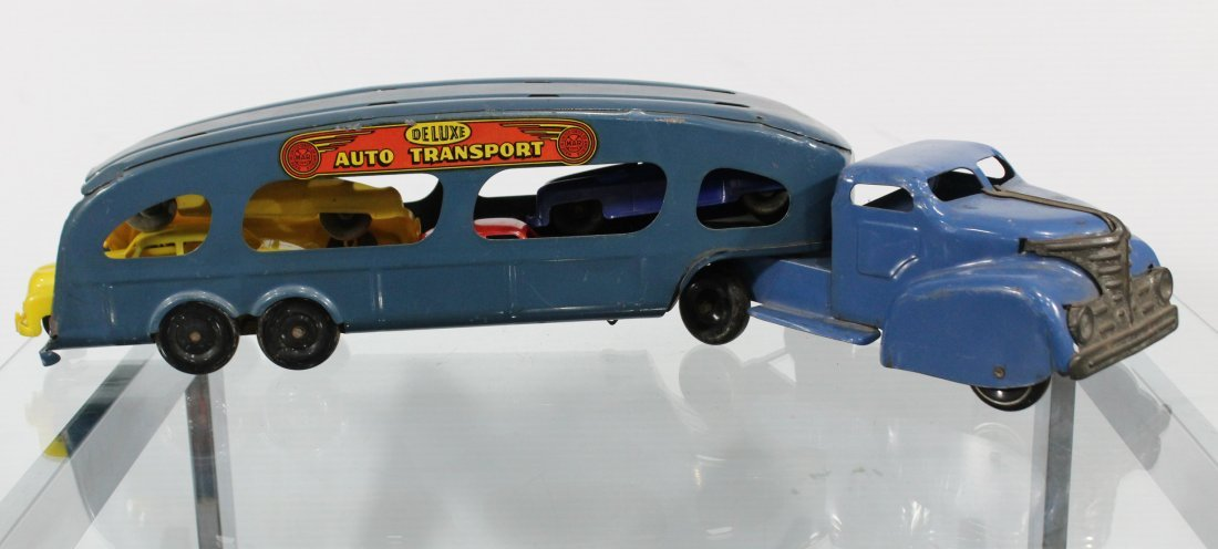 Antique MARX PRESSED STEEL DELUXE AUTO TRANSPORT