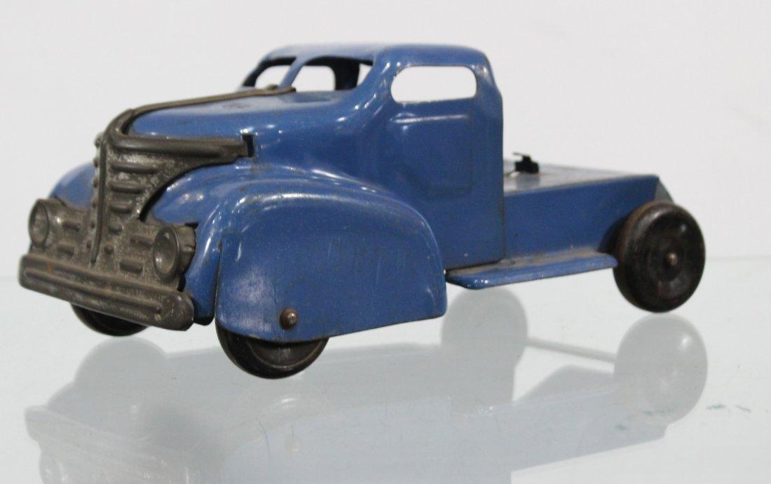 Antique MARX PRESSED STEEL DELUXE AUTO TRANSPORT - 3