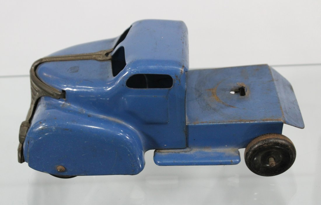 Antique MARX PRESSED STEEL DELUXE AUTO TRANSPORT - 6