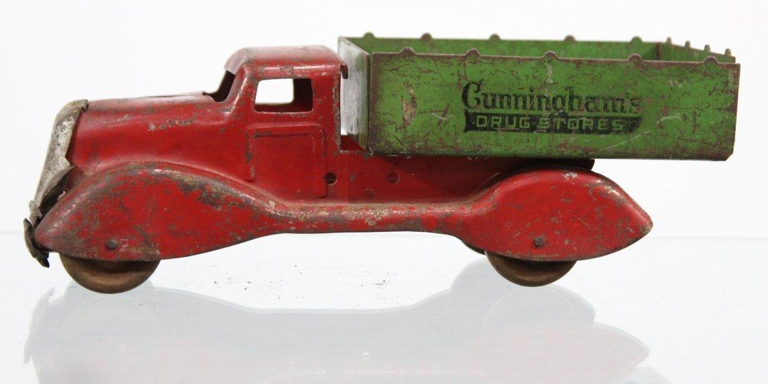 Antique CUNNINGHAM'S DRUG STORE PRESSED STEEL TRUCK