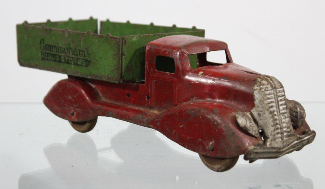 Antique CUNNINGHAM'S DRUG STORE PRESSED STEEL TRUCK - 3