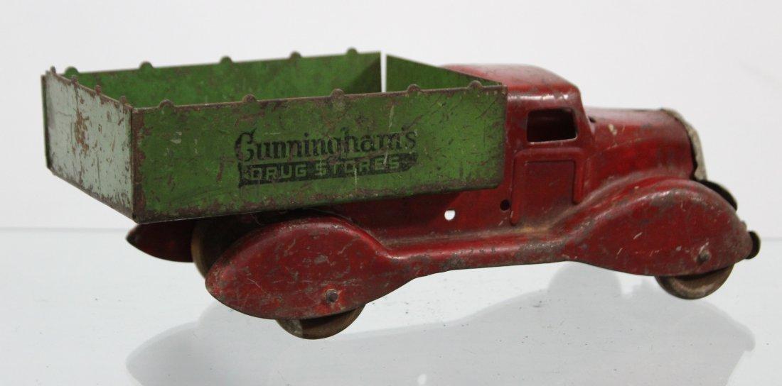 Antique CUNNINGHAM'S DRUG STORE PRESSED STEEL TRUCK - 4