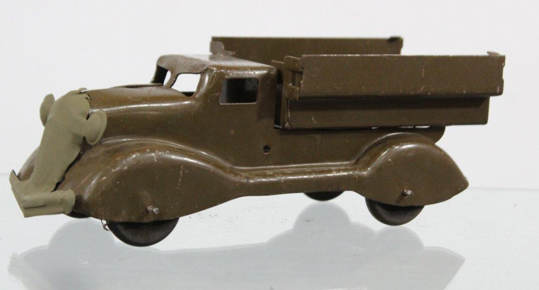 Antique PRESSED STEEL TRUCK Brown