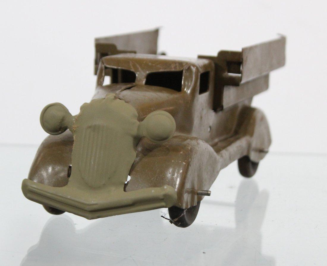 Antique PRESSED STEEL TRUCK Brown - 2