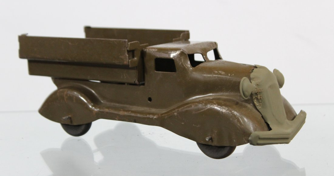 Antique PRESSED STEEL TRUCK Brown - 3