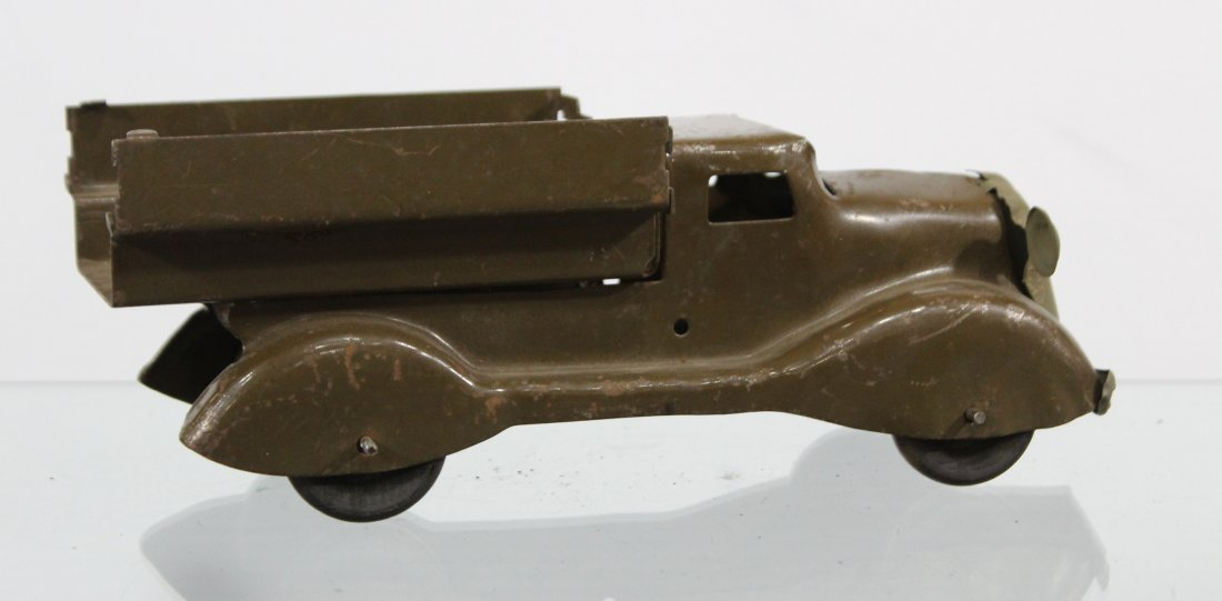Antique PRESSED STEEL TRUCK Brown - 4