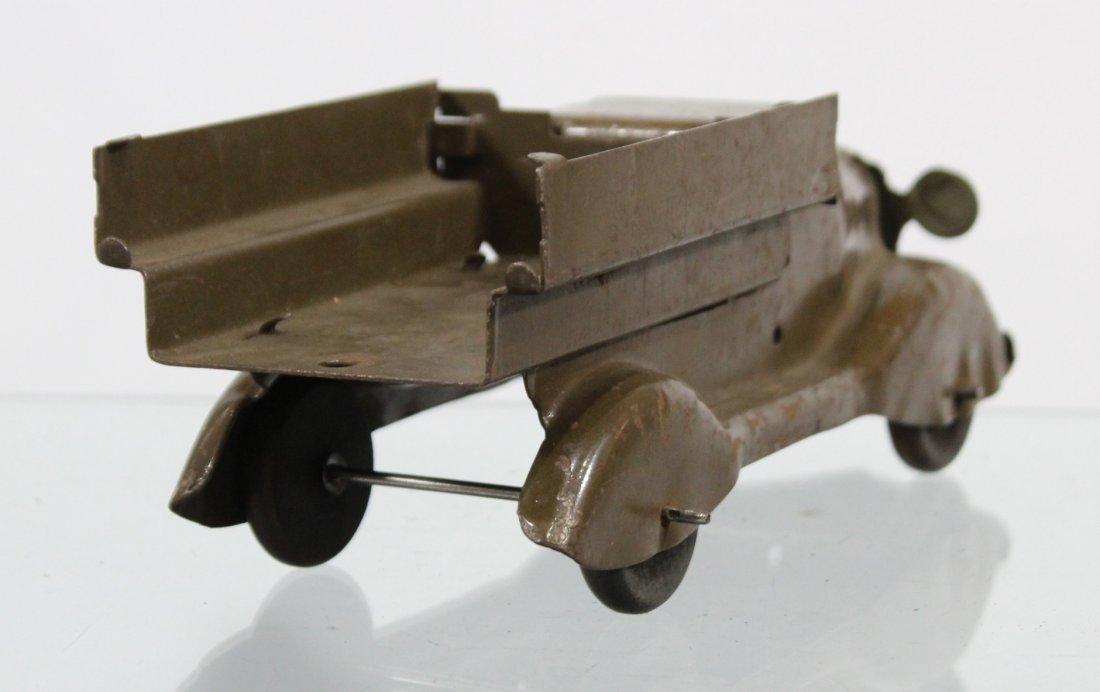 Antique PRESSED STEEL TRUCK Brown - 5