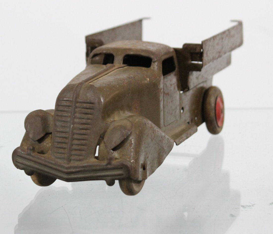 Antique PRESSED STEEL TRUCK Brown - 2