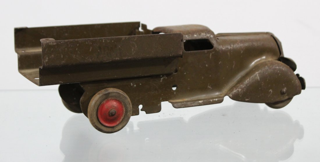 Antique PRESSED STEEL TRUCK Brown - 4