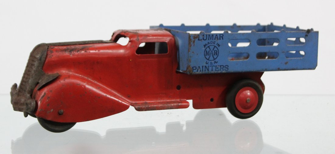 Antique MARX LUMAR PAINTERS PRESSED STEEL TRUCK