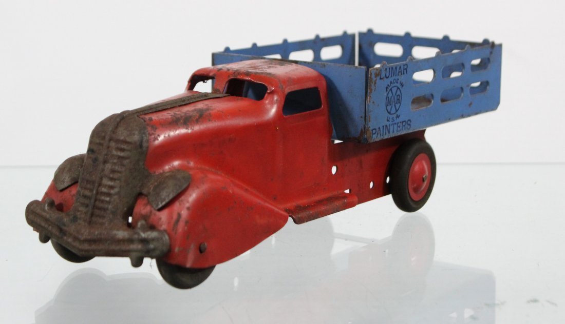 Antique MARX LUMAR PAINTERS PRESSED STEEL TRUCK - 2