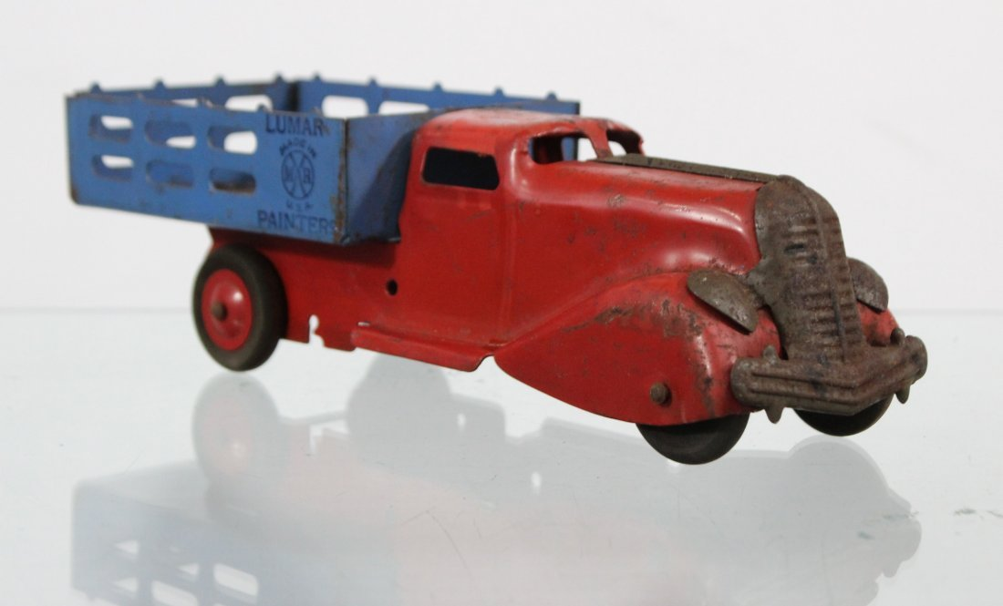 Antique MARX LUMAR PAINTERS PRESSED STEEL TRUCK - 3
