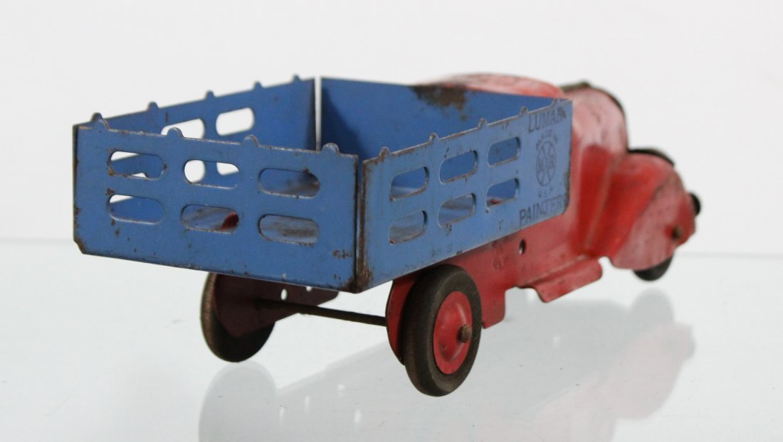 Antique MARX LUMAR PAINTERS PRESSED STEEL TRUCK - 5