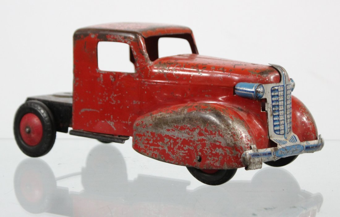 Antique PRESSED STEEL TRUCK CAB Red