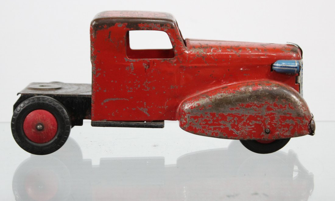 Antique PRESSED STEEL TRUCK CAB Red - 2
