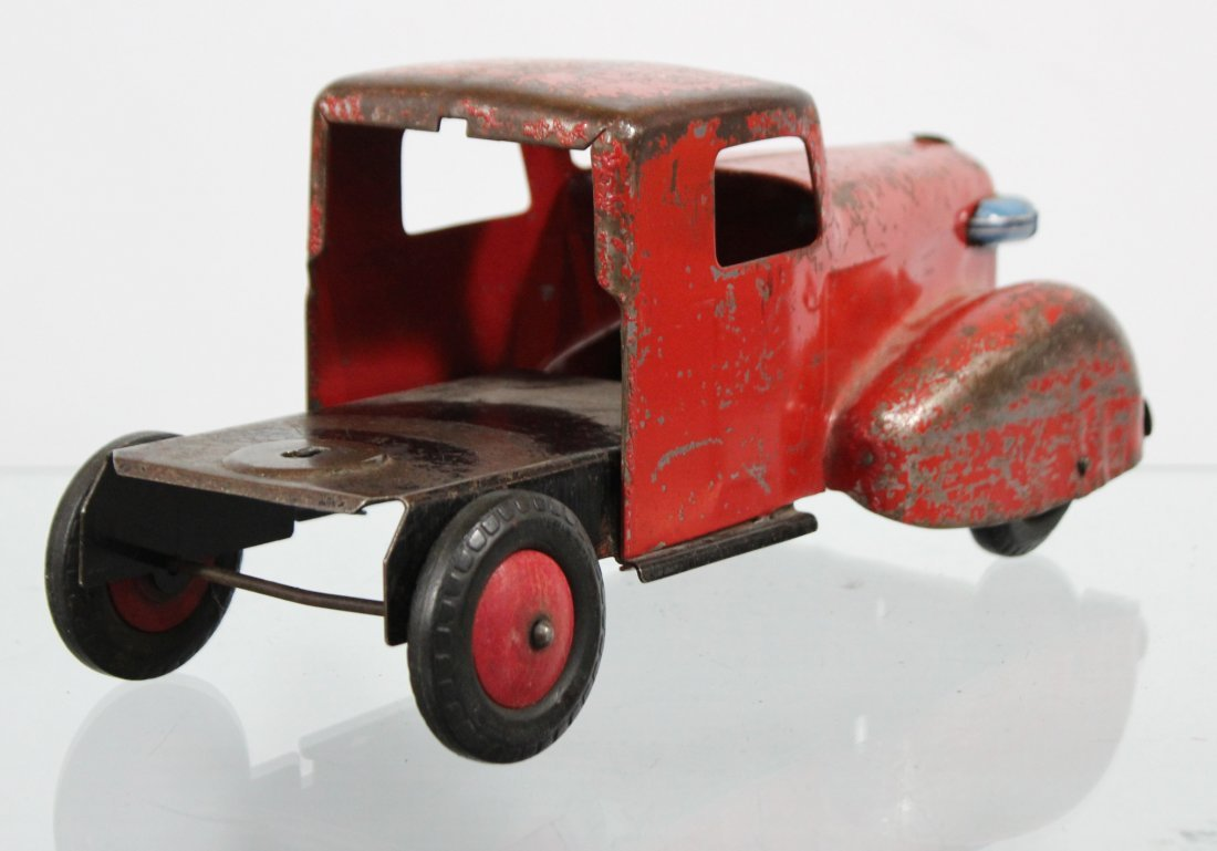 Antique PRESSED STEEL TRUCK CAB Red - 3