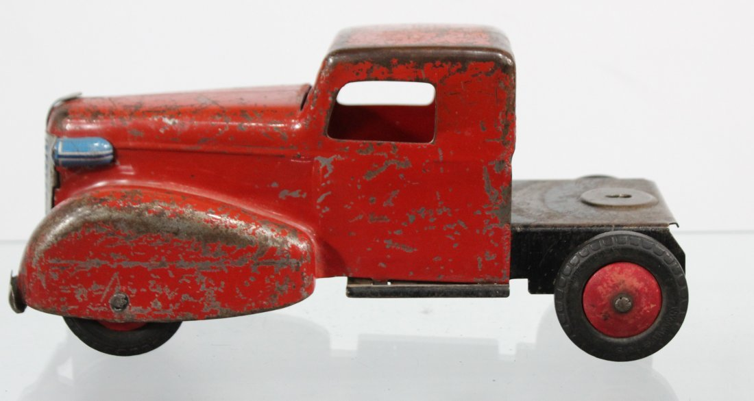 Antique PRESSED STEEL TRUCK CAB Red - 4