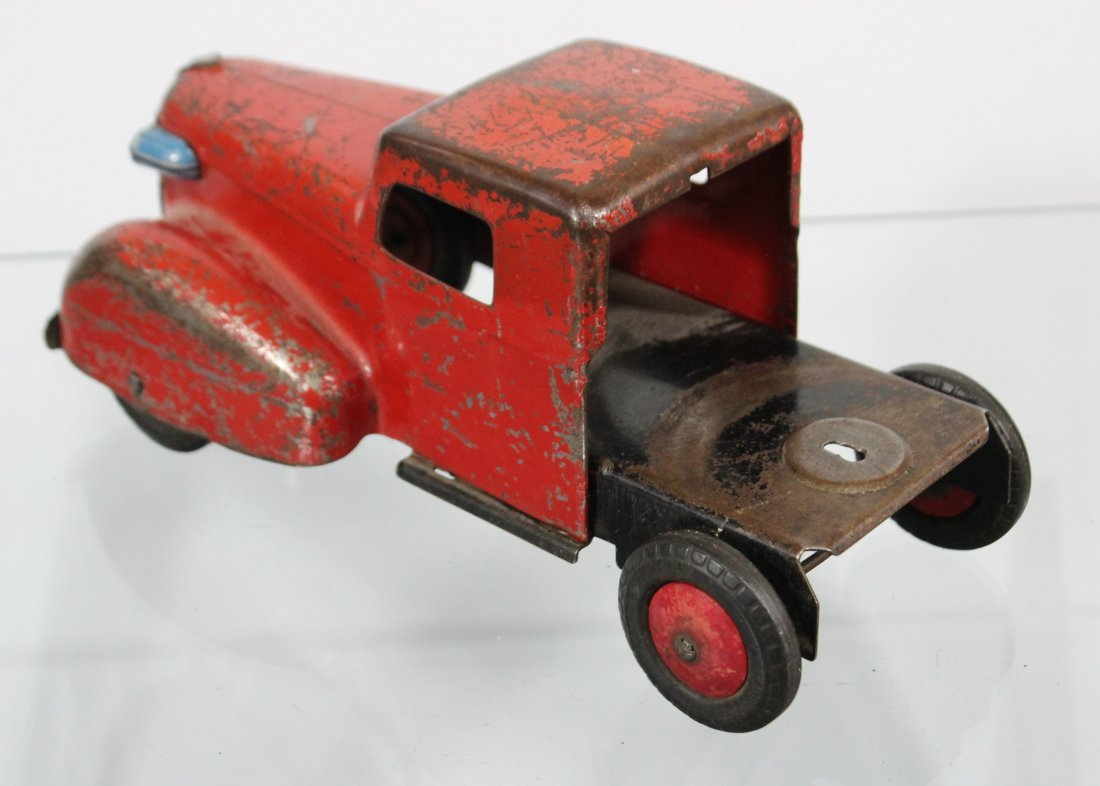 Antique PRESSED STEEL TRUCK CAB Red - 5