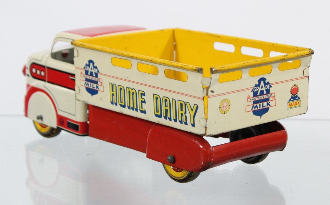 Antique MARX MILK HOME DAIRY PRESSED STEEL TRUCK - 4