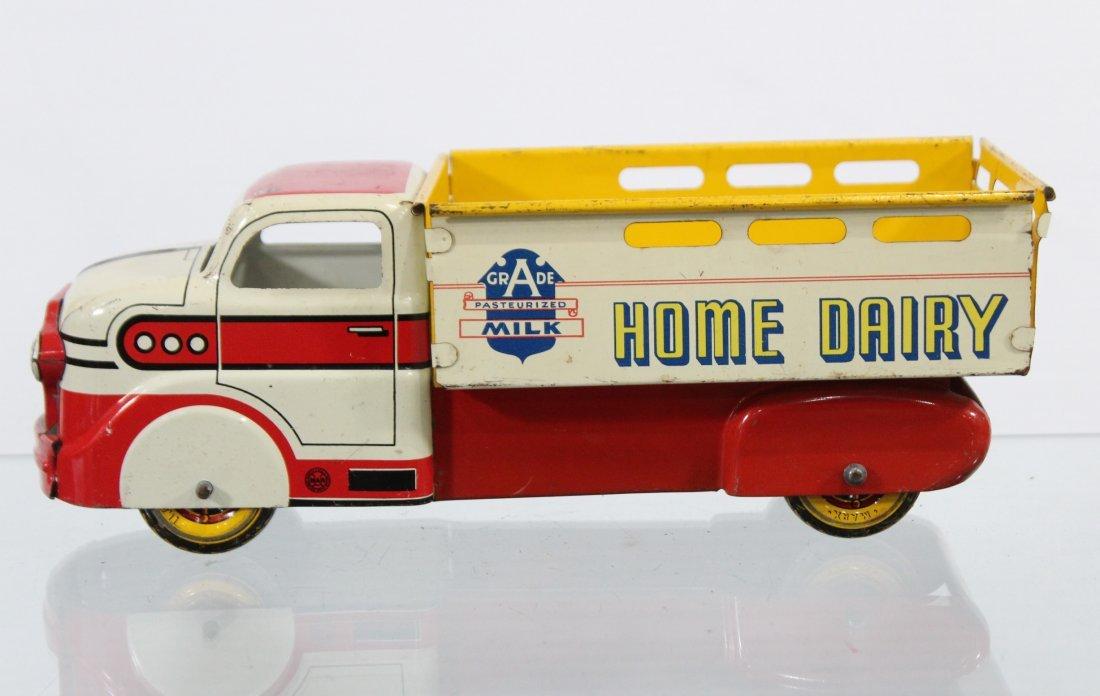 Antique MARX MILK HOME DAIRY PRESSED STEEL TRUCK - 5