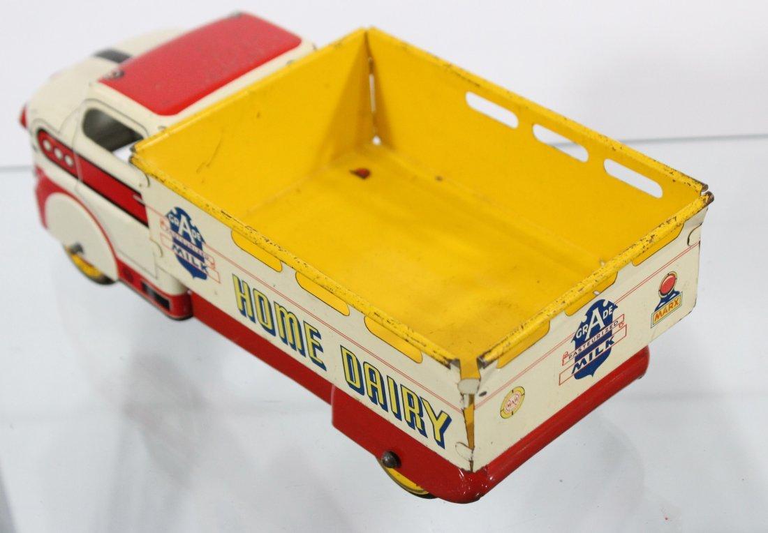Antique MARX MILK HOME DAIRY PRESSED STEEL TRUCK - 6