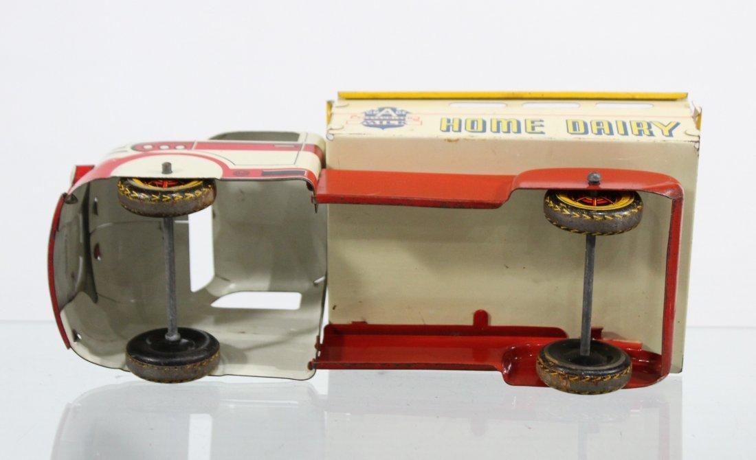 Antique MARX MILK HOME DAIRY PRESSED STEEL TRUCK - 7