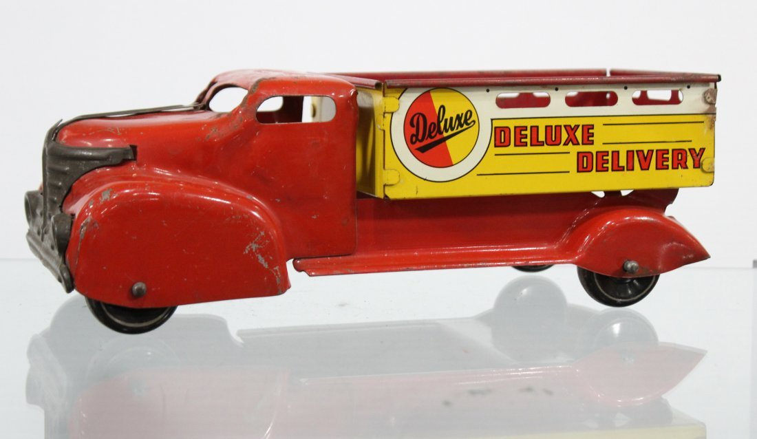 Antique DELUXE DELIVERY PRESSED STEEL TRUCK
