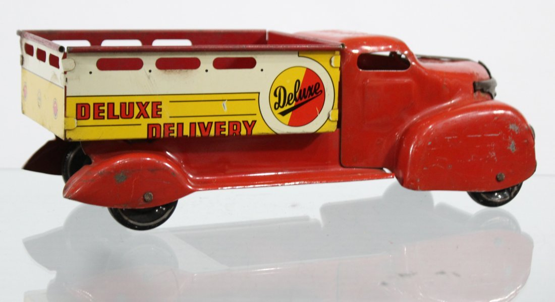 Antique DELUXE DELIVERY PRESSED STEEL TRUCK - 4
