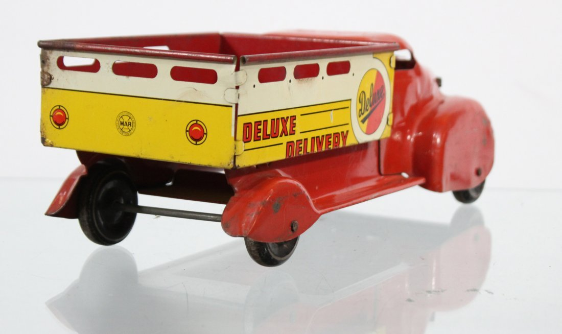 Antique DELUXE DELIVERY PRESSED STEEL TRUCK - 5