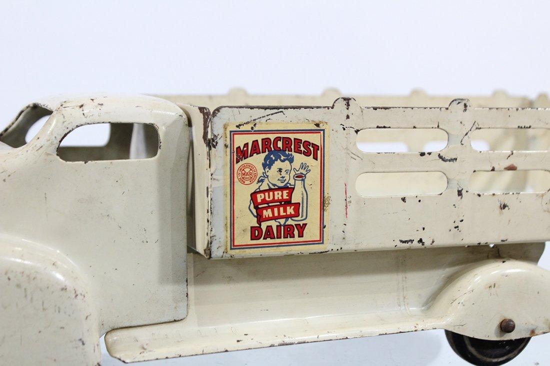 Antique MARX MARCREST MILK DAIRY PRESSED STEEL TRUCK - 2
