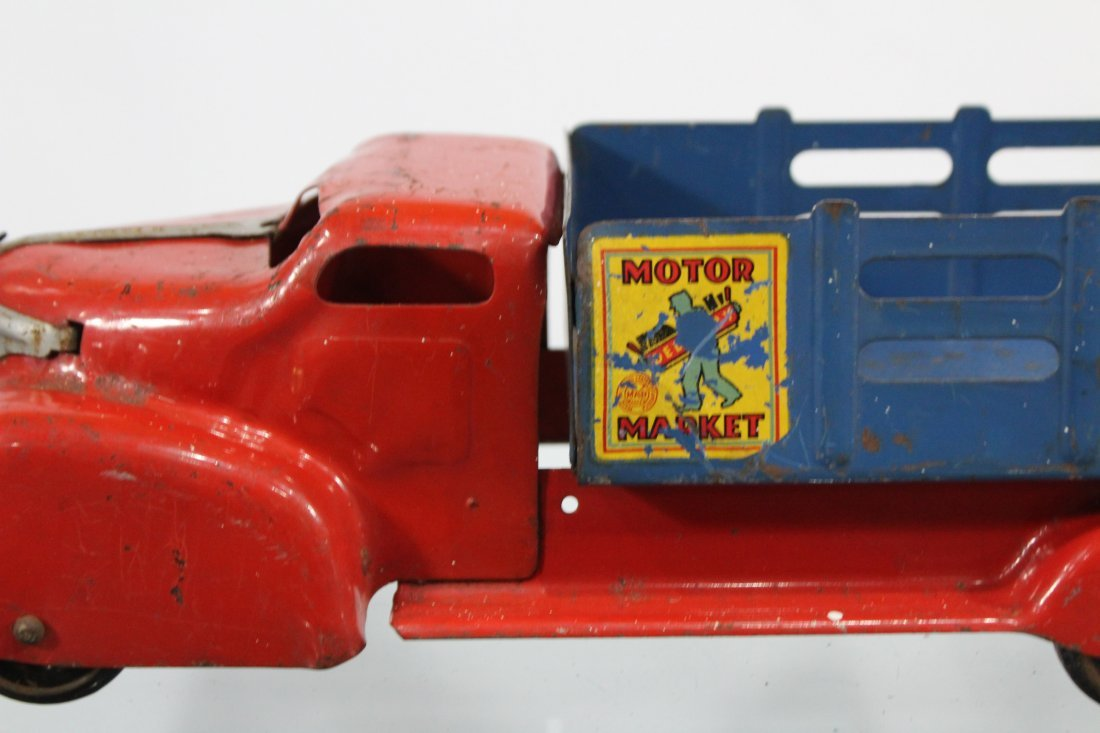 Antique MARX MOTOR MARKET DELIVERY PRESSED STEEL TRUCK - 4