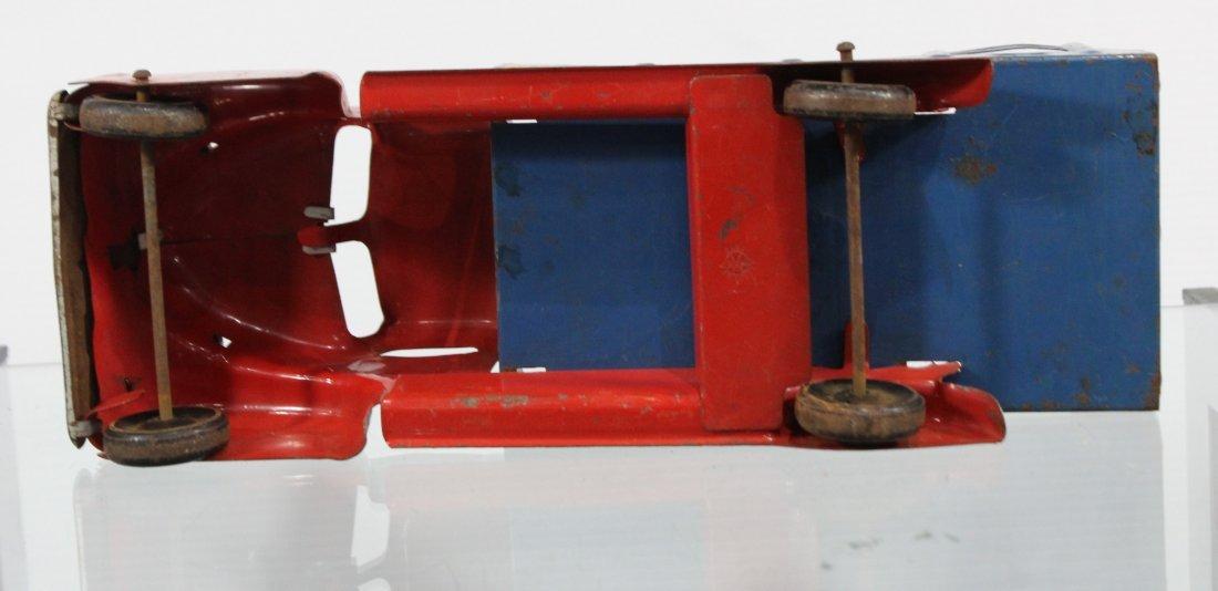 Antique MARX MOTOR MARKET DELIVERY PRESSED STEEL TRUCK - 6